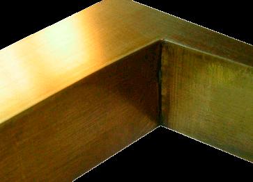 letra corpórea bronce