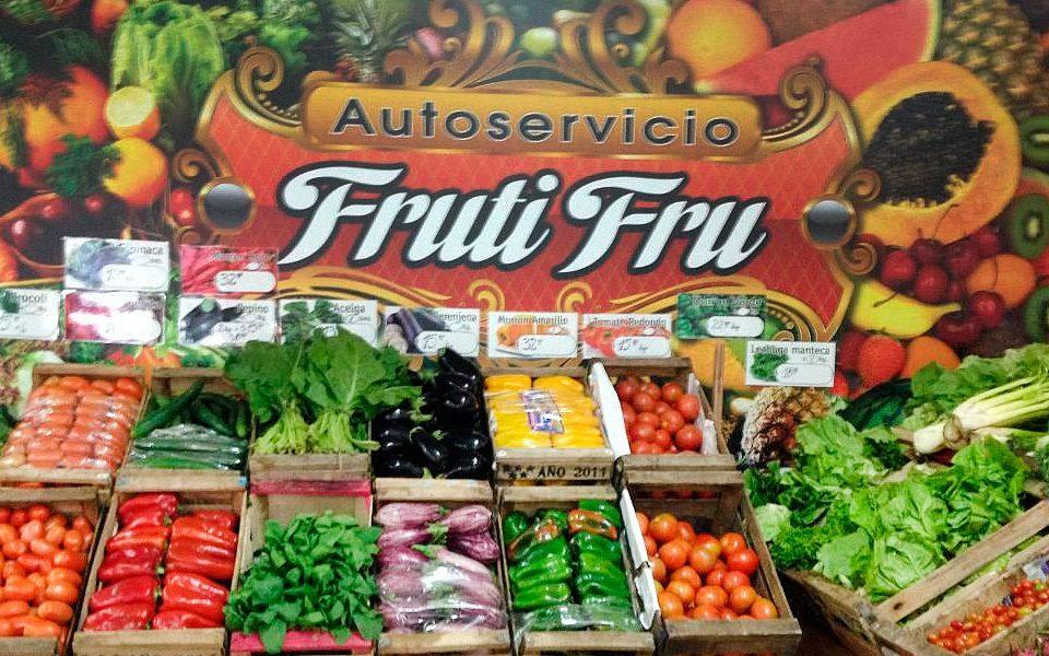Rótulo de tienda de frutas y hortalizas ecológicas