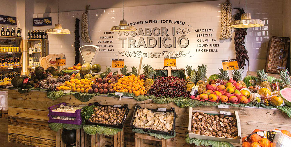 Rótulos en tiendas de frutas y hortalizas